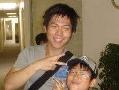 This is a picture of Johnny Hu -- Eric's long time best friend and partner for the Adelaide software deployment.